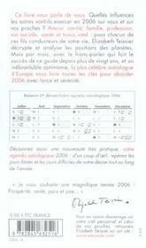 Votre Horoscope 2006 - 4ème de couverture - Format classique