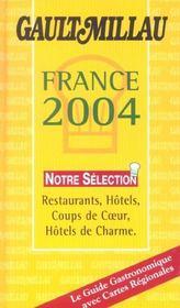 Le Guide Gault-Millau : France 2004 - Intérieur - Format classique