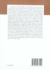 Alter t.14 ; phénoménologie et psychanalyse - 4ème de couverture - Format classique