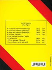 Le thème allemand systématique (3e édition) - 4ème de couverture - Format classique