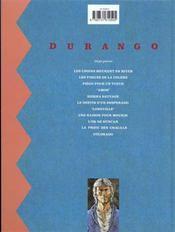 Durango T.11 ; Colorado - 4ème de couverture - Format classique