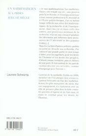 Un mathématicien aux prises avec le siècle - 4ème de couverture - Format classique
