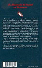 La Democratie De Transit Au Cameroun - 4ème de couverture - Format classique