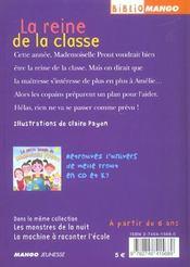 Le petit monde de mademoiselle Prout t.3 ; la reine de la classe - 4ème de couverture - Format classique