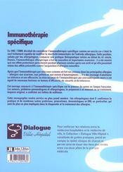 Immunotherapie Specifique - 4ème de couverture - Format classique