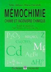 Chimie Et Ingenierie Chimique - Couverture - Format classique