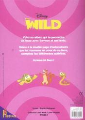 The wild ; jeux et imagier - 4ème de couverture - Format classique