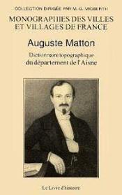 Dictionnaire topographique du departement de l'aisne - Couverture - Format classique