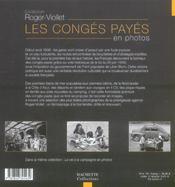 Les conges payes en photo - 4ème de couverture - Format classique