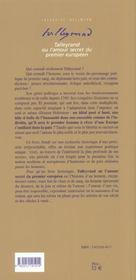 Talleyrand ou l'amour secret du 1e europeen - 4ème de couverture - Format classique