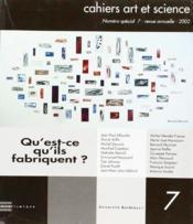 Cahiers Art Et Science 7 - Couverture - Format classique
