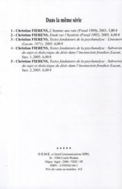 Textes fondateurs de la psychanalyse ; subversion du sujet et dialectique du désir dans l'inconscient freudien (Lacan 1960) - 4ème de couverture - Format classique