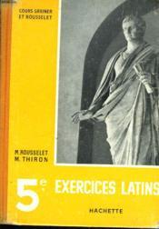5e EXERCICES LATINS - Couverture - Format classique