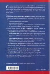 Initiation A L'Anglais Financier Et A La Finance Anglo-Saxonne - 4ème de couverture - Format classique