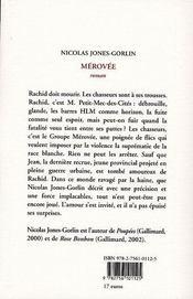 Mérovée - 4ème de couverture - Format classique