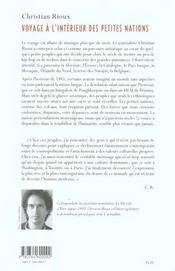 Voyage A L'Interieur Des Petites Nations - 4ème de couverture - Format classique
