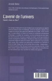 L'Avenir De L'Univers - 4ème de couverture - Format classique