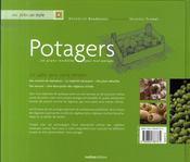 Potagers ; 20 plans-modèles pour mon potager - 4ème de couverture - Format classique