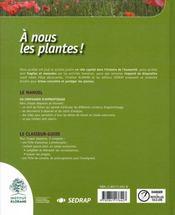 A Nous Les Plantes - Le Manuel Cycle 3 - 4ème de couverture - Format classique