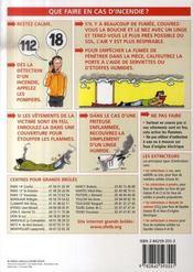 Petit Guide T.235 ; Les Pompiers Et Le Feu - 4ème de couverture - Format classique