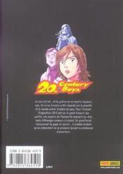 20th century boys t.15 - 4ème de couverture - Format classique