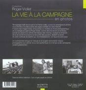 La vie a la campagne en photos - 4ème de couverture - Format classique