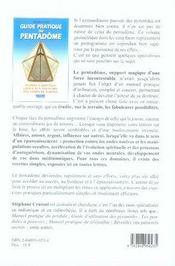 Guide pratique du pentadome - 4ème de couverture - Format classique