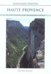Randonnée pédestre Haute-Provence - Intérieur - Format classique