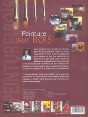 Peinture Sur Bois T1 (La) - 4ème de couverture - Format classique