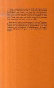 Durruti dans le labyrinthe - 4ème de couverture - Format classique
