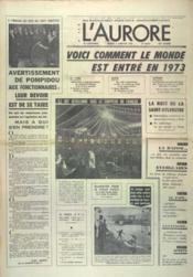 Aurore (L') N°8814 du 02/01/1973 - Couverture - Format classique