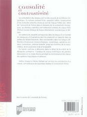Causalité et contrastivité. études de corpus - 4ème de couverture - Format classique