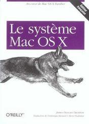Systeme Mac Os X - Intérieur - Format classique