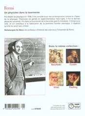Enrico fermi - 4ème de couverture - Format classique