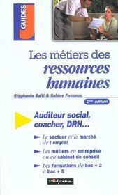 Les metiers des ressources humaines ; 2e edition - Intérieur - Format classique