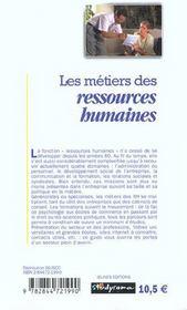 Les metiers des ressources humaines ; 2e edition - 4ème de couverture - Format classique