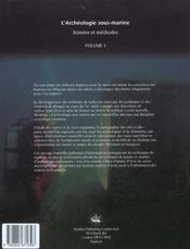 L'archéologie sous marine - 4ème de couverture - Format classique