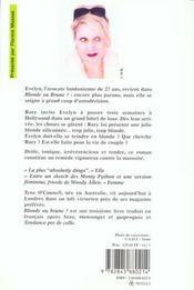 Blonde ou brune - 4ème de couverture - Format classique