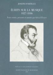 Écrits sur la musique (1827-1846) - Couverture - Format classique
