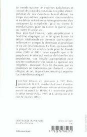 L'Ideologie Du Monde ; Chroniques D'Economie Politique - 4ème de couverture - Format classique