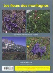 Les fleurs des montagnes - 4ème de couverture - Format classique