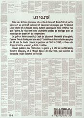Les tolstoï, journal intime - 4ème de couverture - Format classique