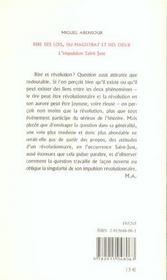 Rire Des Lois, Du Magistrat Et Des Dieux. L'Impulsion Saint-Just - 4ème de couverture - Format classique