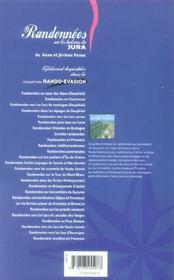 Randonnees Sur Les Balcons Du Jura - 4ème de couverture - Format classique