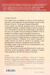 Informatique Industrielle Du Binaire Au Processeur Methodes De Conception De Circuits Numeriques - 4ème de couverture - Format classique
