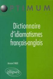 Dictionnaire d'idiomatismes français-anglais - Intérieur - Format classique