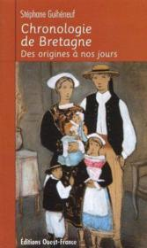 Chronologie de bretagne. des origines a nos jours - Couverture - Format classique