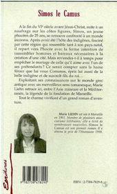 Simos Le Camus La Fondation De Marseille - 4ème de couverture - Format classique