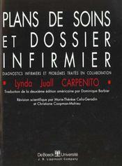 Plans De Soins Et Dossier Infirmier - Intérieur - Format classique
