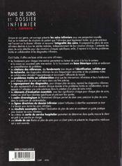 Plans De Soins Et Dossier Infirmier - 4ème de couverture - Format classique